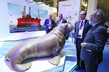 Russian polar explorer Artur Chilingarov at World Petroleum Exhibition